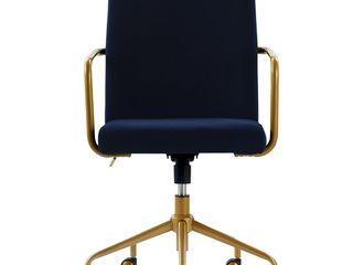 Elle Decor Giselle Gold Desk Chair  Retail 262 49