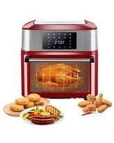 zokop 16 91Qts Air Oven  Rotisserie Oven  1800W Electric Air Fryer Oven with lED Digital Touchscreen  Retail 127 99 red