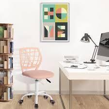 Porch   Den Nazaneen Cut out Plastic Backrest  White Metal Base Task Chair  Retail 87 99 blush