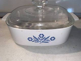 Corning Ware Blue Cornflower A 2 B 2 Quart Casserole Dish With lid location Shelf E