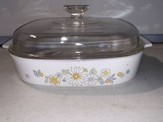 Corning Ware Floral Bouquet A 10 B Casserole Dish With lid location Shelf E