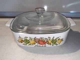 Corning Ware Spice of life A 1 B 1 liter Casserole Dish With lid location Shelf E