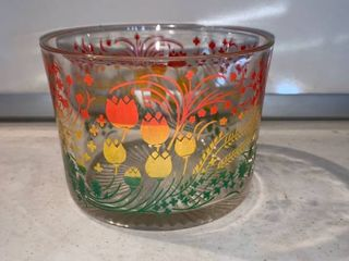 Fun Retro Glass Ice Bucket location Shelf F