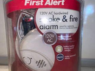 First Alert 120V AC Hardwired Smoke and Fire Alarm location Shelf F