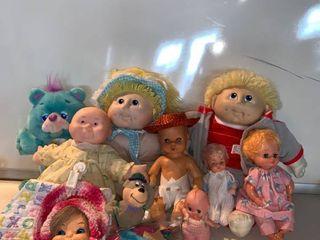 lot of Vintage Dolls 2 1984 Cabbage Patch Kids location Shelf F