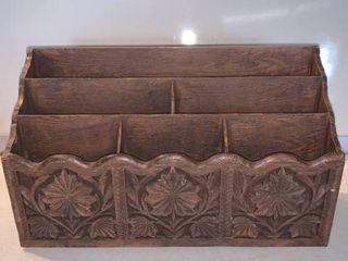 lerner Faux Carved Wood Desk Top Organizer location Shelf C
