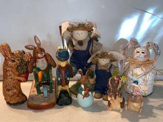 lot of 9 Easter Bunnies location Shelf C