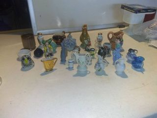 Mega lot Of Assorted Decorative Miniatures And Accessories For Home Shelf C