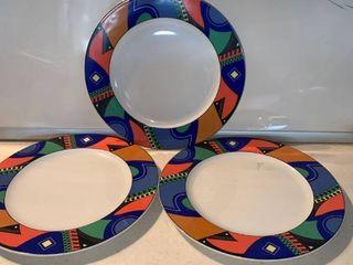 Set of 3 Delco Royal Ceramicor Porcelain Plates location Shelf C