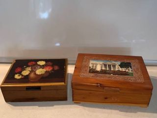 2 Wood Jewelry Boxes location Shelf C
