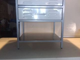 Really Nice Metal 2 Drawer Table For Indoor Or Outdoor 20x17x34 location 1E Middle