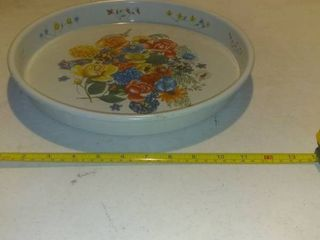 Great Tin ServingTray With Floral Design 13 Shelf F