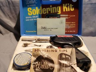 Weller 6 Piece Soldering Kit  Tested and Working  With Manual