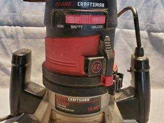 Sears Craftsman 25000 RPM 1 5 Horse Power Router  Tested and Working