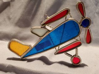 Colorful Glass Airplane