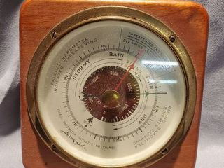 Vintage AIRGUIDE Wall Barometer Thermometer Weather Station