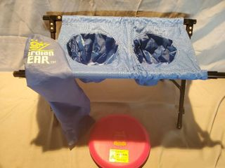 lot of 2 Pet Supplies  Gaurdian Gear Pop Up Bowl Stand and SnuggleSafe Heatpad