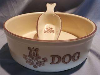 Pfaltzgraff Dog Bowl with Food Scoop
