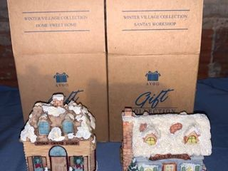 Avon Gift Collection Home Sweet Home and Santas Workshop location Shelf 4