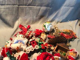 lot of Various Vintage Christmas Ornaments location Shelf 4