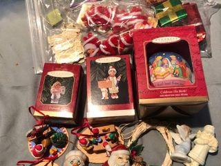 lot of Various Hallmark Christmas Ornaments location Shelf 4