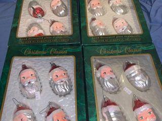 4 Boxes of Santa Christmas Classics Ornaments location Shelf 4