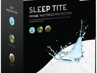 Sleep Tite PR1ME Waterproof Fitted Mattress Protector  Vinyl Free