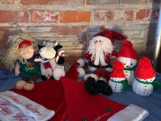 Christmas lot 4 Hats Santa Snowmen location Shelf 4