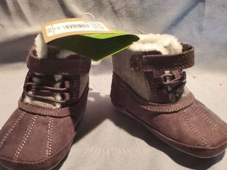 New Black Grey with Fur Kids Size M 12 18 Months  Winter Boots