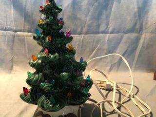 Ceramic Glass light Up Christmas Tree Tested and Working location Shelf 4