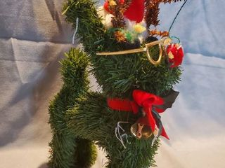 Very Cool Fake Tree Shaped Dog with Christmas Spirit