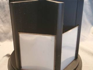 Wooden Black Carouself Photo Holder with Cubbies