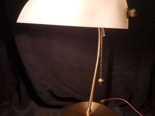 Modern Brass Banker Style Desk lamp