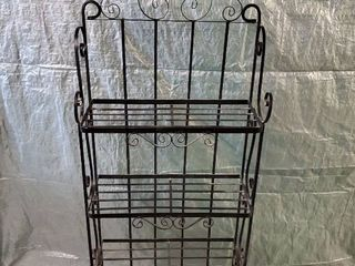 Black Metal Bakers Rack 24x11x70 Inches