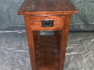 Narrow Arts and Crafts End Table location 1E Middle