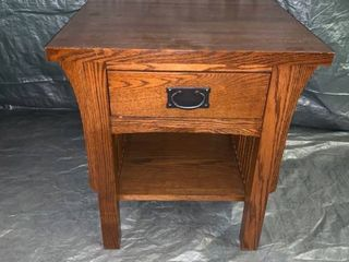 Solid A  A  laun Arts and Crafts End Table With Drawer location 1E Middle