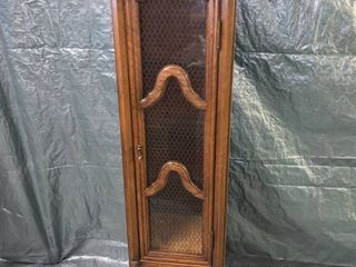 Tall Narrow Curio Cabinet With Glass Door location 1D Middle