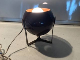 Awesome Mid Century Brown Metal Eyeball lamp Works location Shelf D