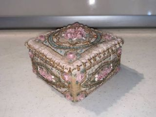 Cute Hand Painted Jewelry Trinket Box With lid location Shelf D