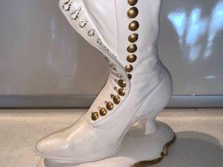 Ceramic Gilded Boot location Shelf D