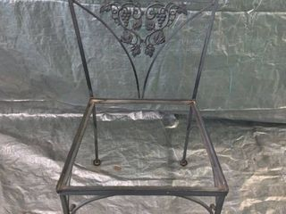 Black Wrought Iron Patio Chair No Seat location 1F Middle
