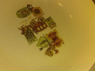 American West Decorated Set Of Dishes location C