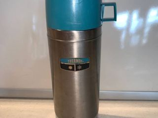 Stainless Steel Quart Size Thermos Model 2464S location Shelf D