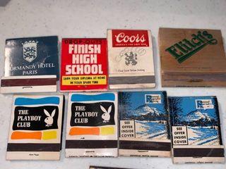 lot of 8 Vintage Matchbooks Playboy Club location Shelf D