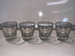 Set of 4 Anchor Hocking large Shot Glasses location Shelf E