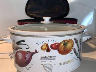 Hamilton Beach Crock Pot With Carrying Case location Shelf E