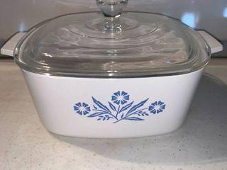 Corning Ware Blue Cornflower A 1 1 2 B 1 5 Quart Casserole Dish With lid location Shelf E
