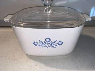 Corning Ware Blue Cornflower AP 1 3 4 B 1 75 Quart Casserole Dish With lid location Shelf E