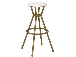 The Curated Nomad Gramercy Retro Metal Backless Bar Stools  Set of 2  Retail 86 99