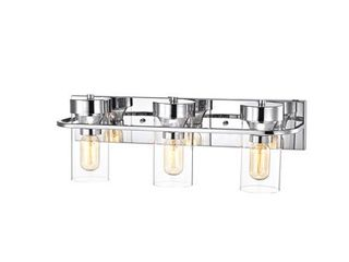 Copper Grove Pal 3 light Chrome Bath Vanity Fixture  Retail 105 49